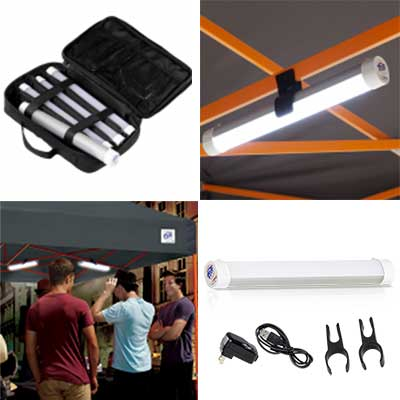 Canopy Lighting Rechargeable With Mounting Clips