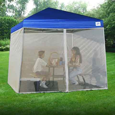 Zika Mosquito Screen Room - Vista 10 x 10 By Ez Up : coleman instant canopy screenwall accessory - memphite.com