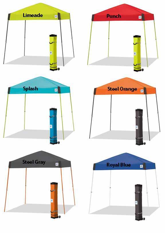 ez up vista 3 10 x 10 bright new colors